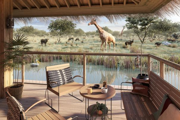 At Planète Sauvage: Lodges in the heart of the African savannah!